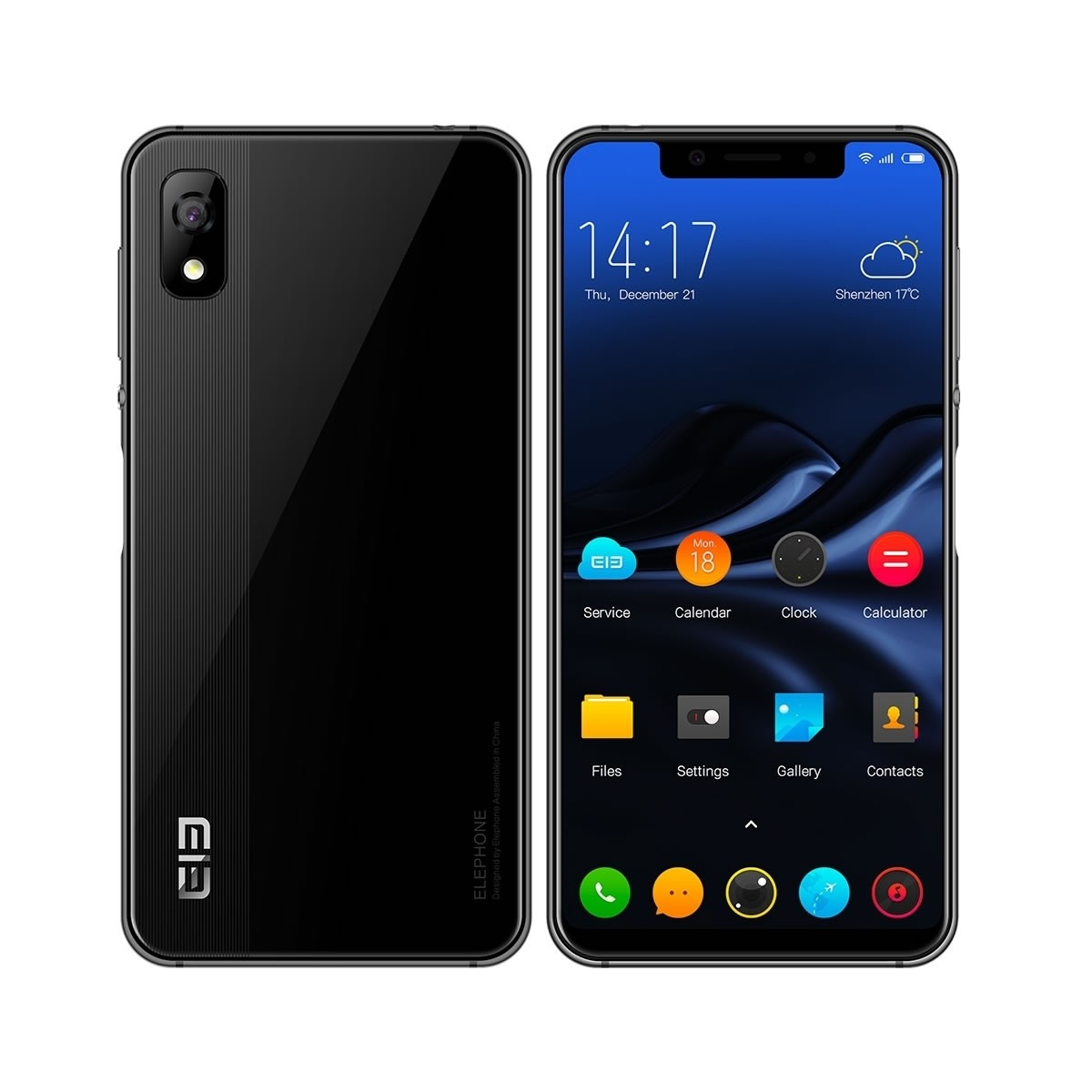 elephone a4 mobile black 1 - Elephone A4 Price, Specs, Features and Review.