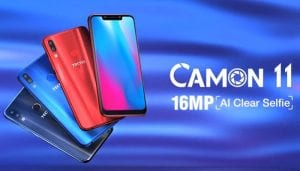 Tecno Camon 11 Pro 300x171 - TECNO CAMON 11 (XI) Released With Notch And Dual Rear Cameras