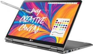 aHR0cDovL3d3dy5sYXB0b3BtYWcuY29tL2ltYWdlcy93cC9wdXJjaC1hcGkvaW5jb250ZW50LzIwMTgvMTIvbGctZ3JhbS0yLWluLTEuanBn 300x176 - LG Gram 17 Notebook Launched With Huge 16GB RAM & Fingerprint Sensor