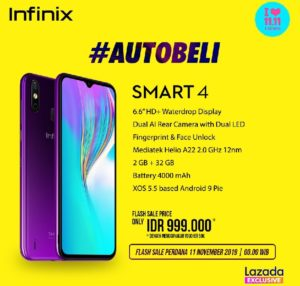Infinix Smart 4 1 300x286 - Infinix Smart 4 Announced With N26,000 Price Tag