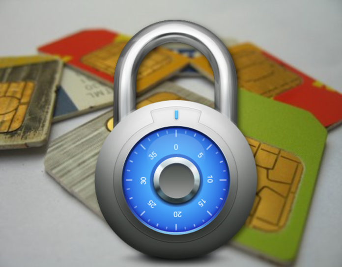 How to lock sim card